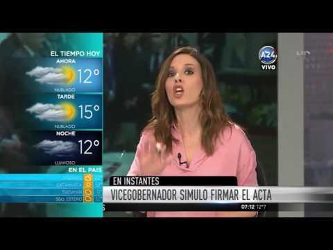 Papelón: el vicegobernador de Santa Cruz simuló firmar el acta del Bicentenario