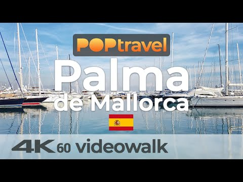 Walking in PALMA de MALLORCA / Spain 🇪🇸- Centre via Marina to Castell de Bellver - 4K 60fps (UHD)