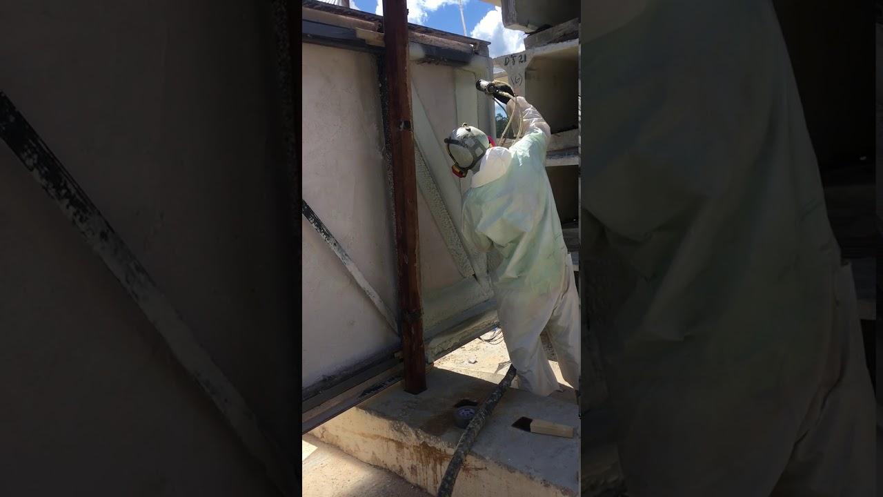 Spray Foam Insulation Application Video Youtube