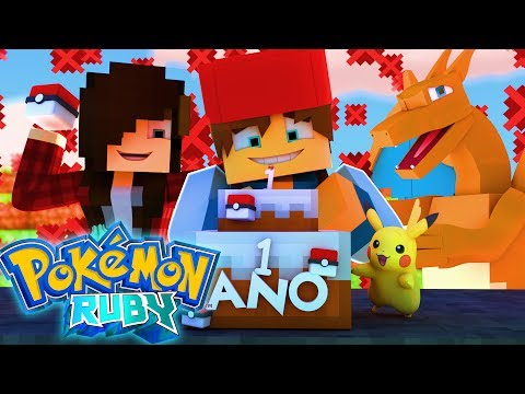 Minecraft: 1 ANO DE POKEMON RUBY (ESPECIAL)