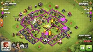 Download lagu Clash of Clans BEST TH8 WAR BASE Anti DRAGON Trophy Base + Defense REPLAYS