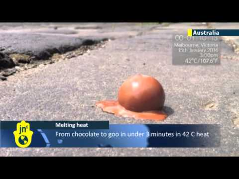 Australian heatwave melts chocolate: amazing time-lapse video recorded in sweltering Melbourne