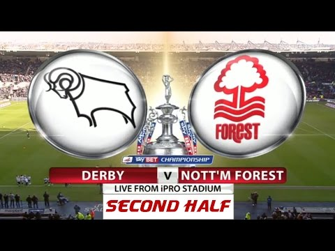 Derby County v Nottingham Forest | Second Half | Skybet Cham