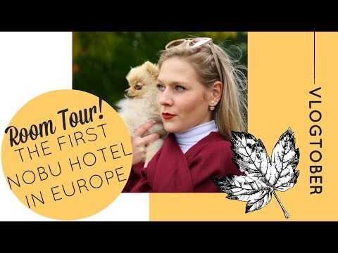 ROOM TOUR! THE FIRST NOBU HOTEL IN EUROPE | Vlogtober 6 | Katie KALANCHOE