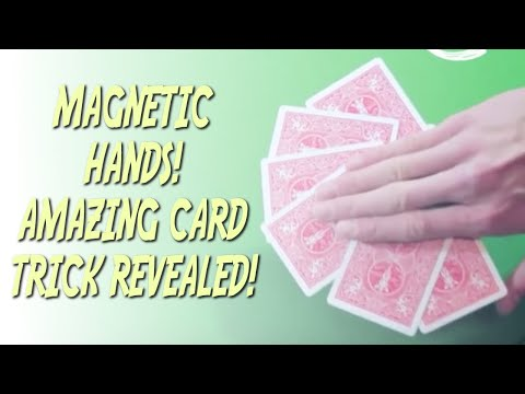 Magnetic Hands - Card Trick - Magic Tricks REVEALED