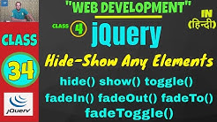 jQuery FadeIn - FadeOut - FadeToggle Functionality In Urdu/Hindi