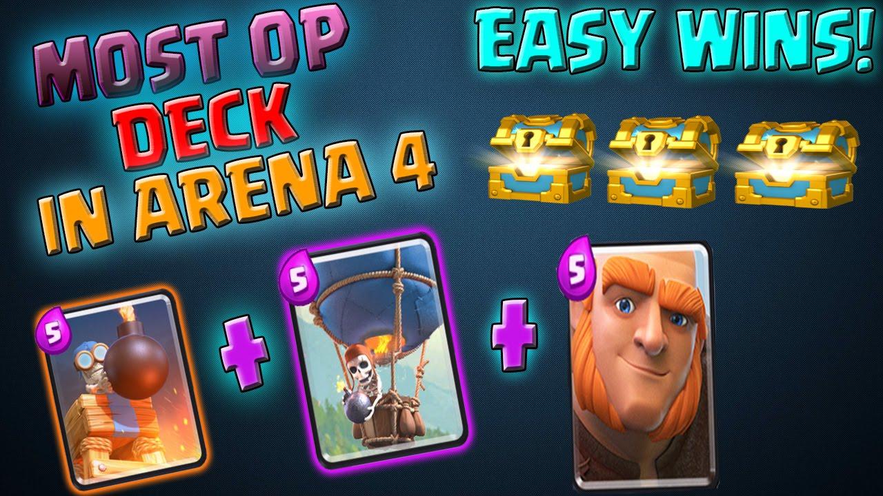 Clash Royale Arena 4 Deck Deutsch