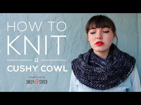 How to Knit a Cushy Cowl for Beginners