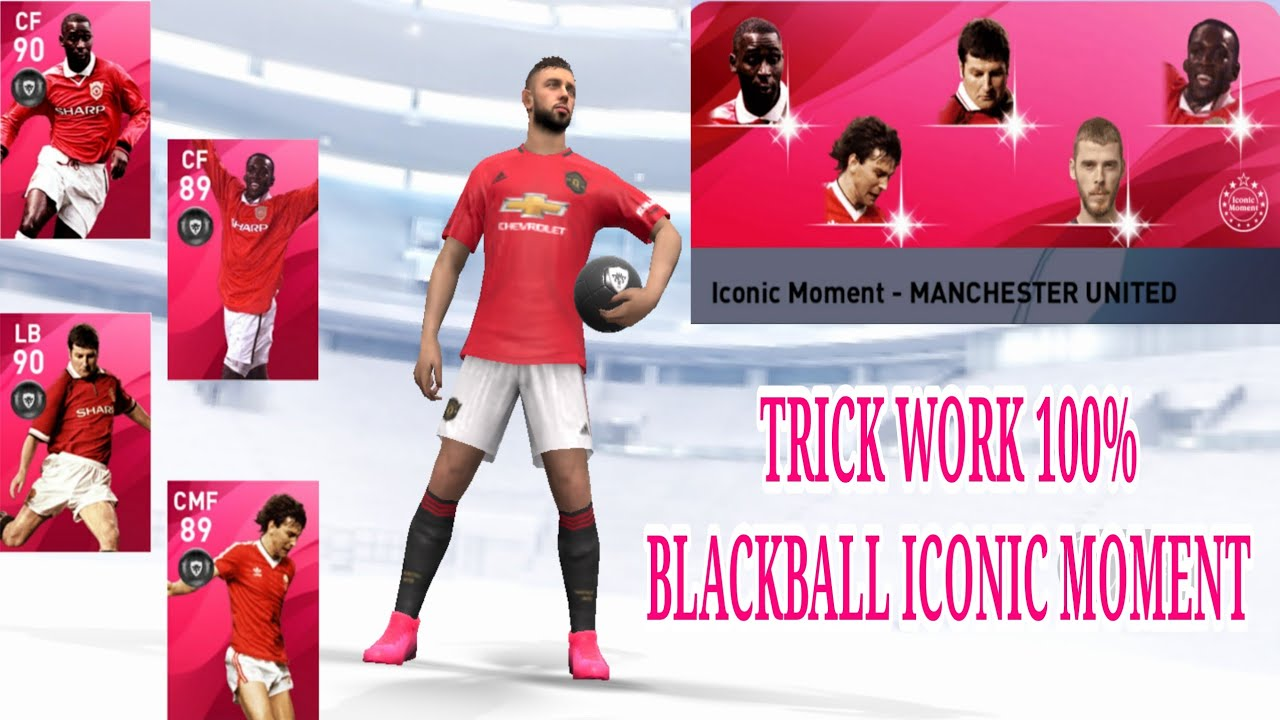 TRICK WORK BLACK BALL ICONIC LEGEND FROM ICONIC MOMENT MANCHESTER UNITED