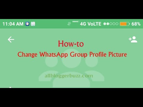How to change the dp of whatsapp group