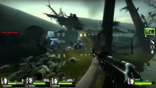 Left 4 Dead 2 Multiplayer Playthrough / Gameplay Part 3 Swamp Fever Ellis Full HD 1080
