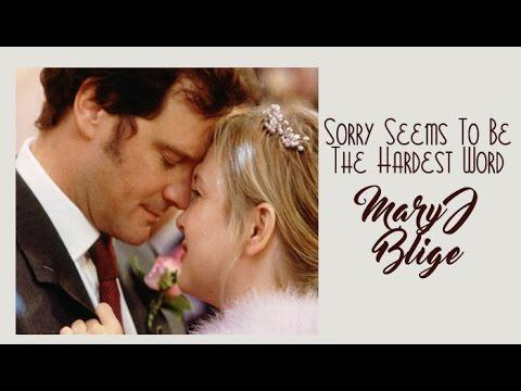 Mary J Blige  Sorry Seems To Be The Hardest Word (Tradução) do filme Diário Bridget Jones HD.