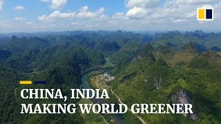 Earth is greener largely thanks to China and India, Nasa satellite study finds