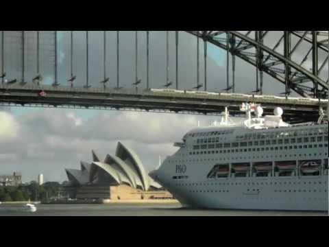 Sydney Harbor Bridge survives Cruise ship entry into port.