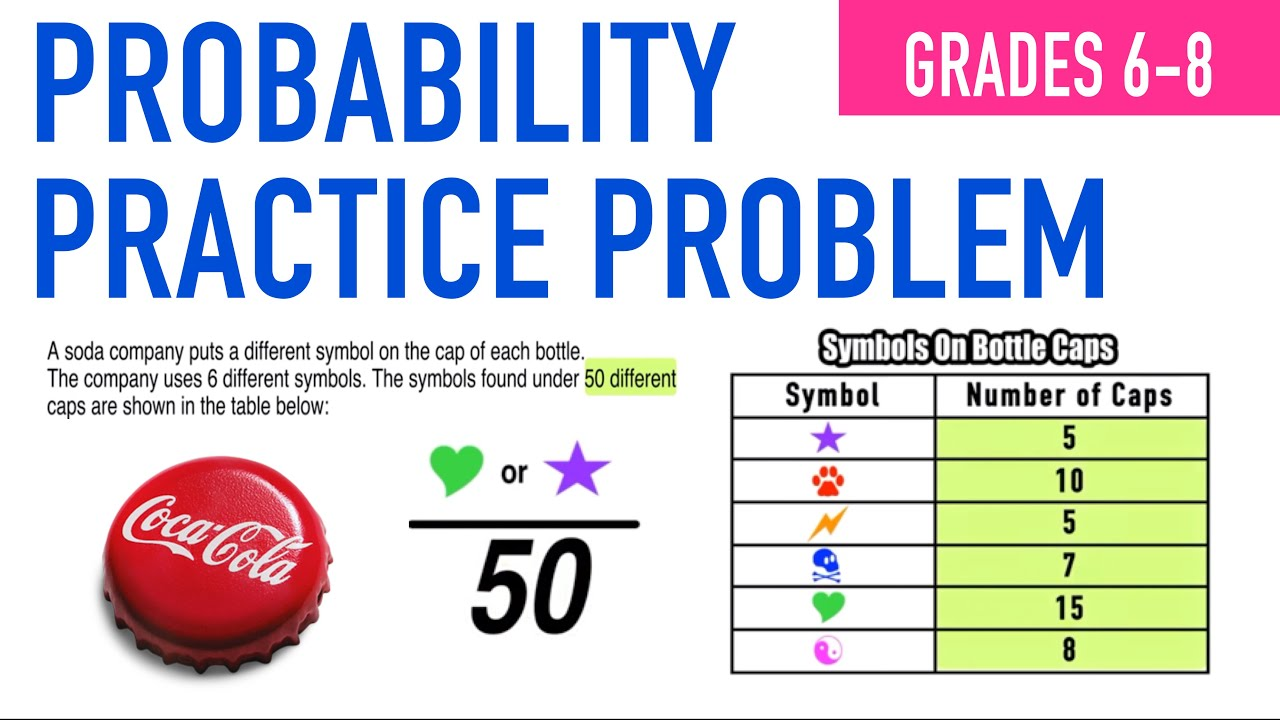 small resolution of Probability Real World Practice Problem for Grades 6-8! - YouTube