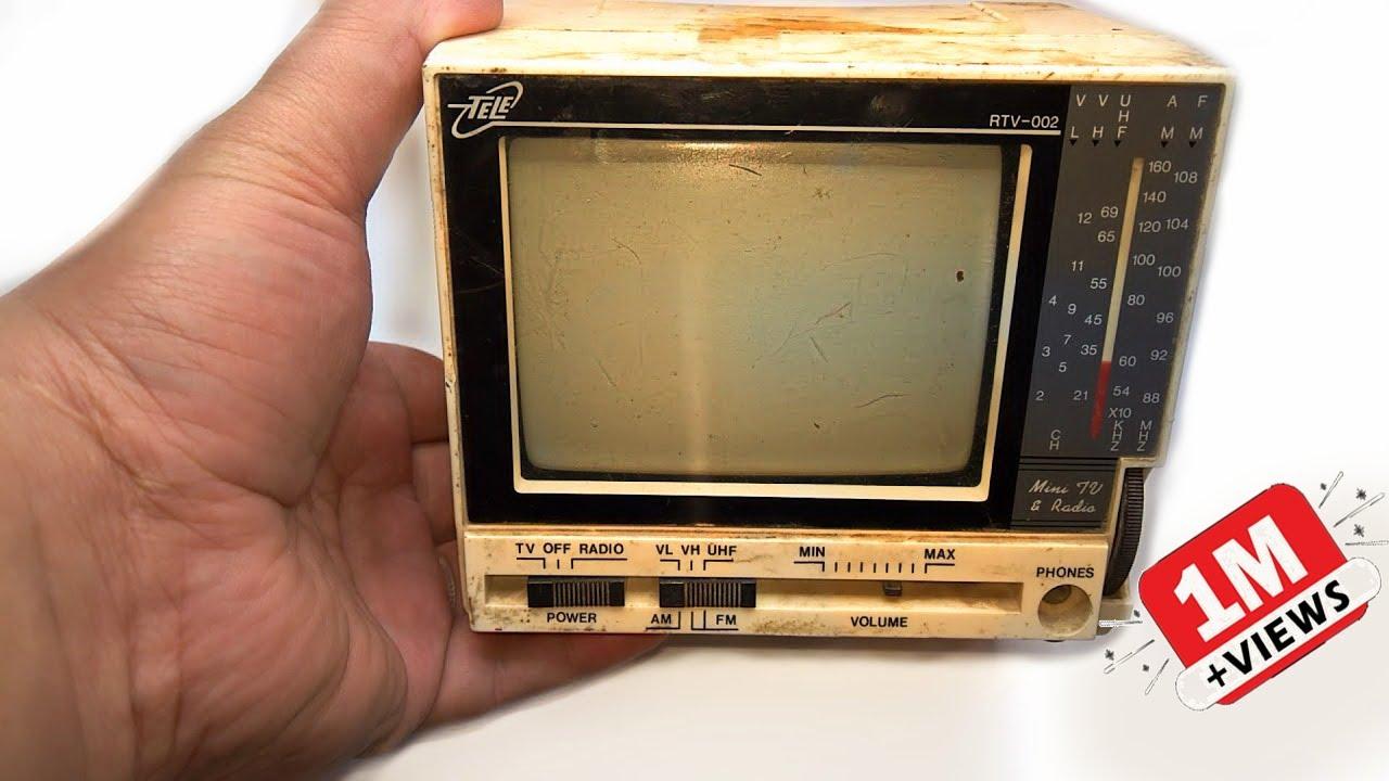Restoration Mini TV produced in 1992 | Antique television restore | Restore old Mini TV