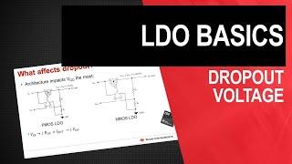LDO basics: Dropout voltage