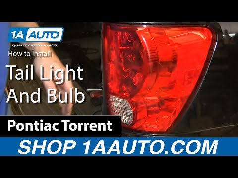 How To Replace Tail Light and Bulbs 06-09 Pontiac Torrent