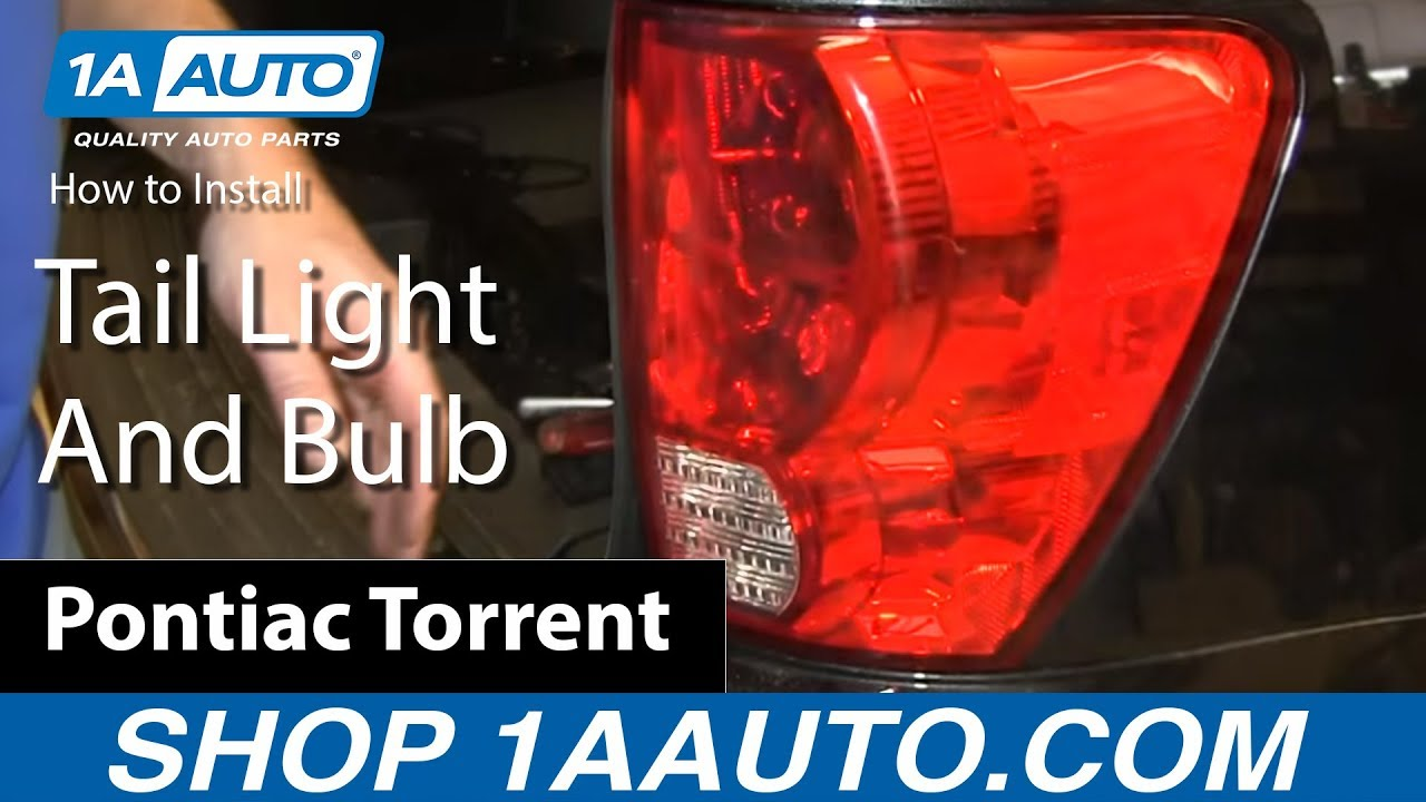 How To Replace Tail Light And Bulbs 06 09 Pontiac Tor