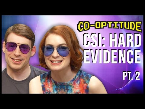 Felicia Day and Ryon Day hunt for clues, and wear sunglasses in the thrilling conclusion to playing CSI: Hard Evidence for the Xbox 360 on this week