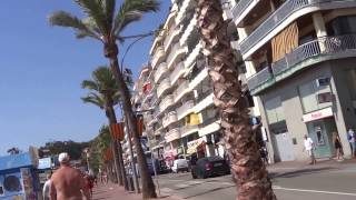 A walk near the beach Lloret de mar , Spain (part 1)