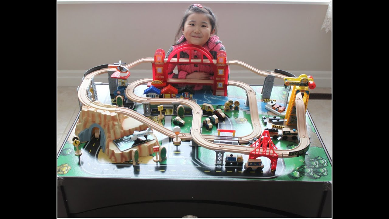 KidKraft Metropolis Train Set and Table Toy Train  sc 1 st  YouTube & KidKraft Metropolis Train Set and Table Toy Train - YouTube
