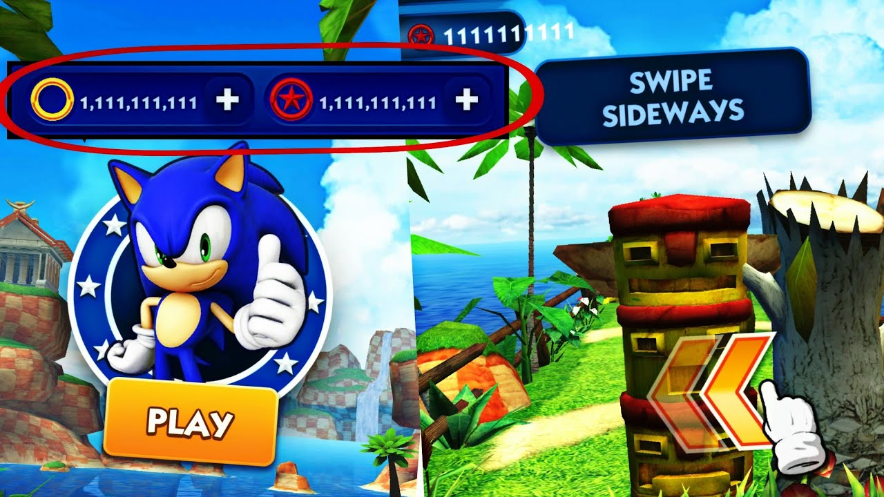 Download Sonic Dash Mod Apk-Get Free [ Cheats/Coins/Powers]