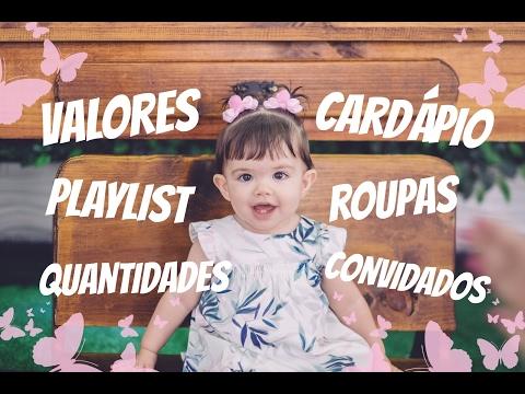 TUDO SOBRE A FESTA JARDIM DA MELISSA - CARDÁPIO/ QUANTIDADES/ LISTA DE CONVIDADOS/ PLAYLIST/ VALORES