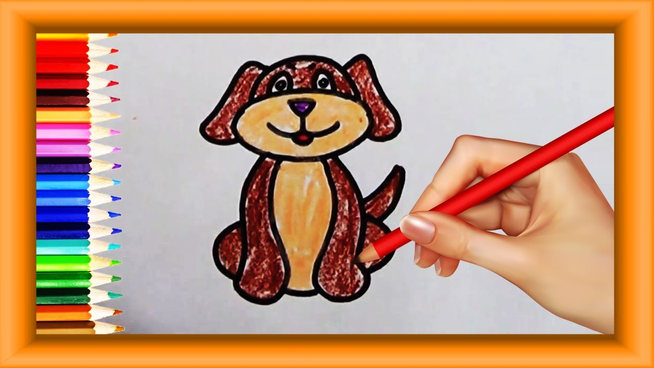Step By Step How To Draw Pet Dog For Kids Simple Coloring Pages Preschool  Toddlers Lotusbaby