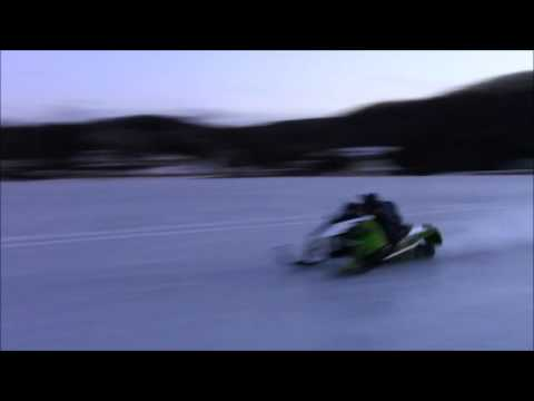 Turbo Dynamic's Outlaw hairy ride on rough frozen slush track 4.64 @ 147mph !!