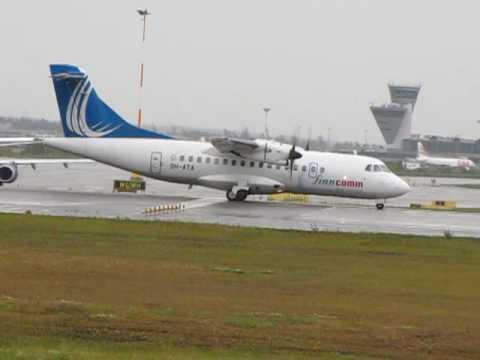 Finncomm Airlines ATR (Avions de Transport Regional) ATR 42-500 Reg. OH-ATA Takeoff