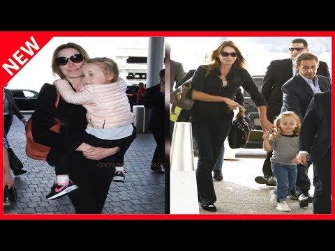 ✅ Carla Bruni aux anges avec Giulia et Aurélien pour la fête des mères