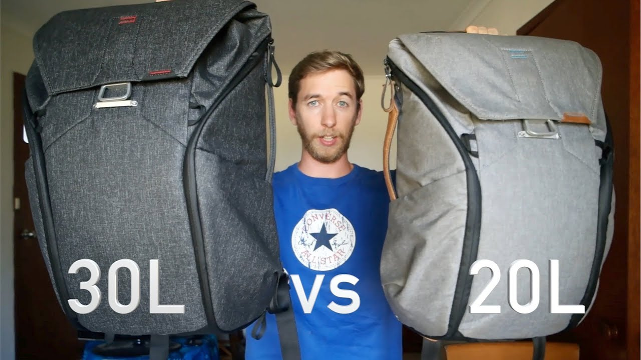 Peak Design Backpack 20L vs 30L Comparison - YouTube