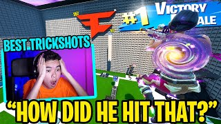 Reacting to the world's BEST creative trickshots.. again... (insane)