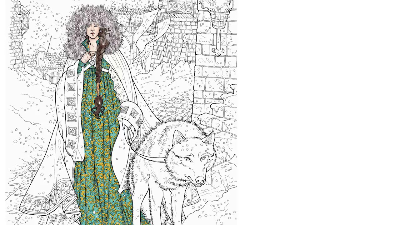 Game Of Thrones Coloring Book Finished Pages
