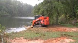 Mowing pond banks