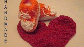 كروشيه طريقة عمل حذاء لأي مقاس خطوة بخطوة Crochet sneakers