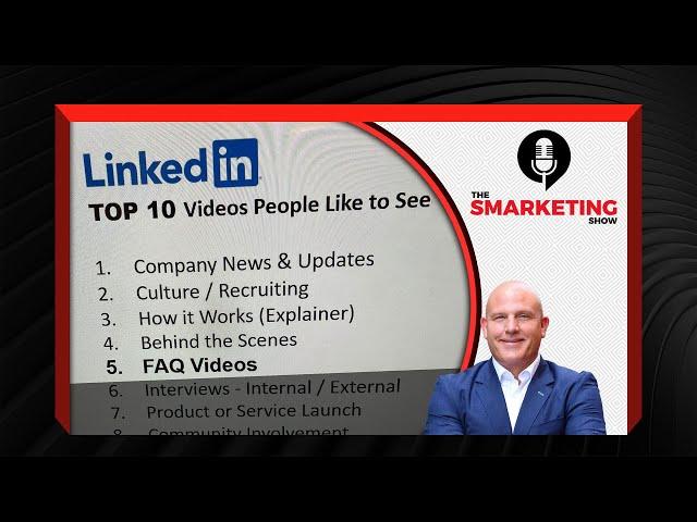 TOP 10 LinkedIn Selfie Videos People Like! (Part 1 of 2) The Smarketing -Episode 86