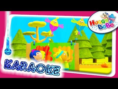 Two Little Dickie Birds | Sing Along Karaoke | Nursery Rhymes | By HuggyBoBo