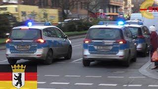 [BERLIN] ÜBERFALL - 3X Polizei Opel Zafira auf der Anfahrt