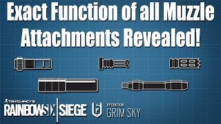What exactly do the Muzzle Attachments do? -  Rainbow Six Siege