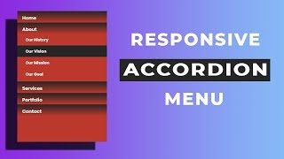 Responsive Vertical Accordion Menu using html and css