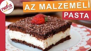 AZ MALZEMELİ EN KOLAY PASTA - Çikolatalı Muhallebili Pasta