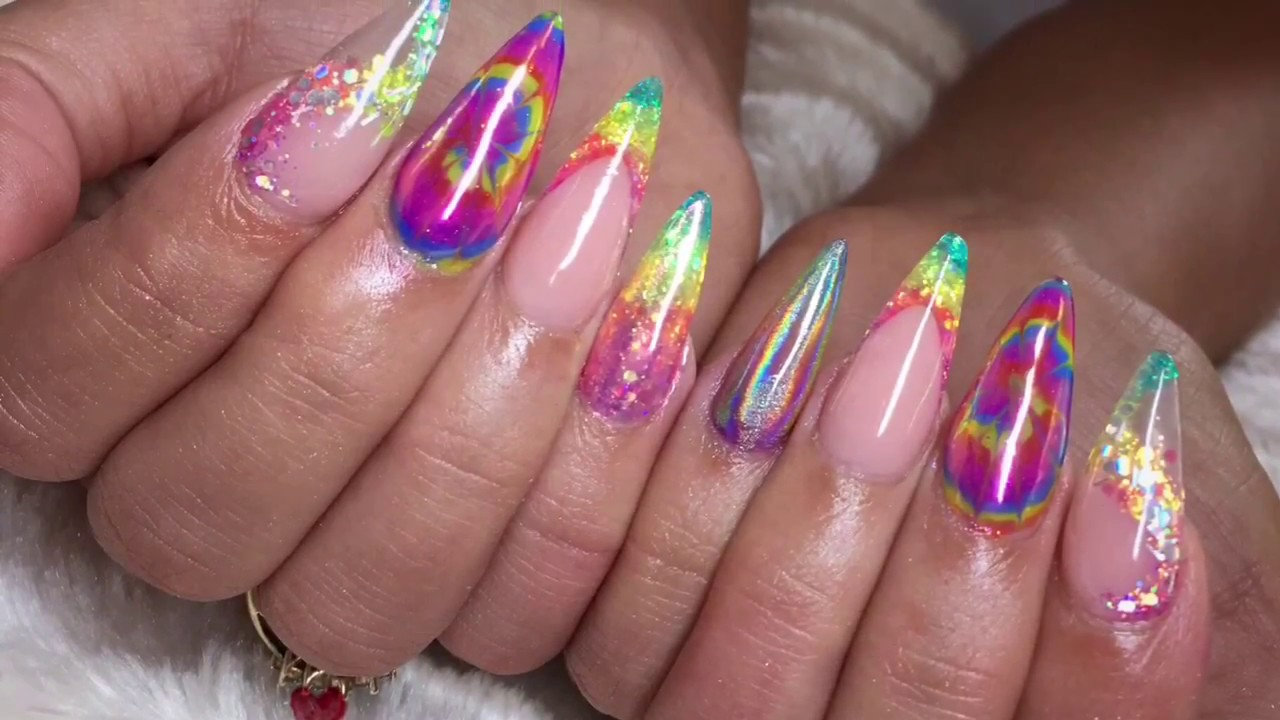 Image result for tie and dye nails