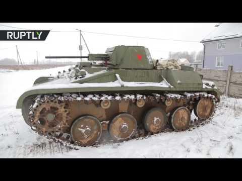 Driving Soviet T-60 Tank Replica Looks Combat-Ready