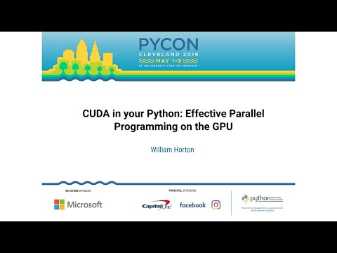 PyVideo org · CUDA in your Python: Effective Parallel