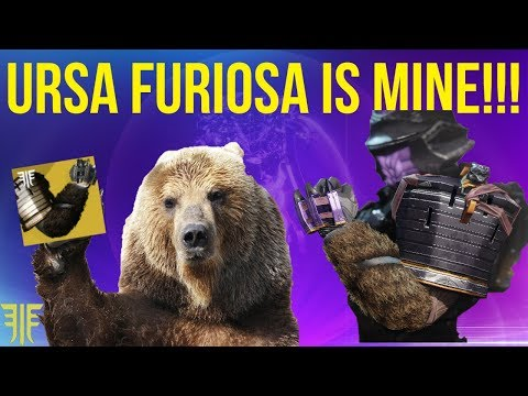 I GOT URSA FURIOSA! (OP Exotic) DESTINY 2 FORSAKEN