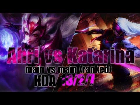Sayahri as Ahri vs Katarina l Ranked Full Gameplay • KDA 13/2/7 • S7