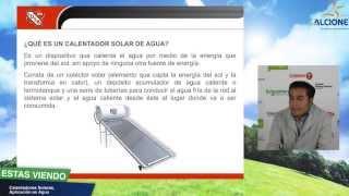 Calentadores Solares, Aplicación en agua. IUSA