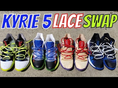 NIKE KYRIE 5 LACE SWAP REVIEW - YouTube